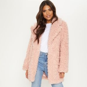PrettyLittleThing Pink Faux Fur Jacket